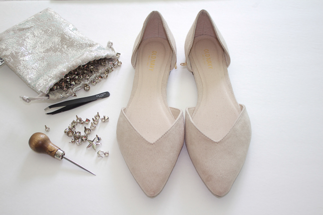 DIY-Studded-Flats-Supplies-and-shoes