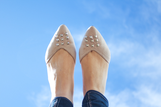 DIY: Studded Flats on BFFF