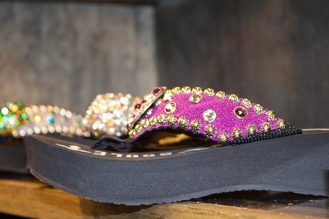 Gypsy Soule pink flip flop