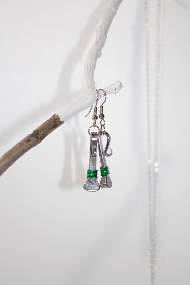 Lucky Horse Designs Green Earrings