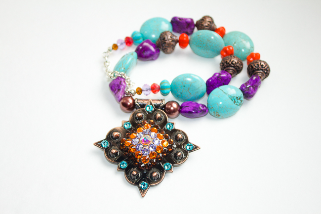 Rodeo Envy Turquoise, Purple and Orange