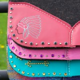 Colorful saddle pads designed by Horses & Heels