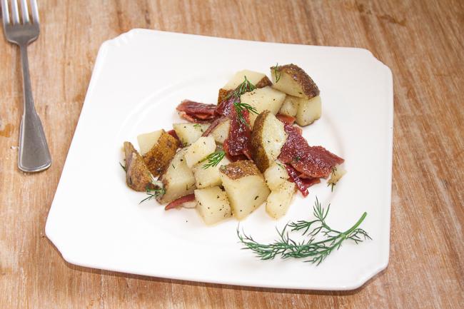 Maple Bacon Potato Salad with Dill