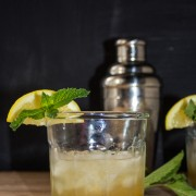 Mint Julep with a Lemon Twist