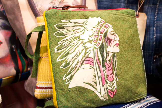 Totem Salvaged Green Indian Tote
