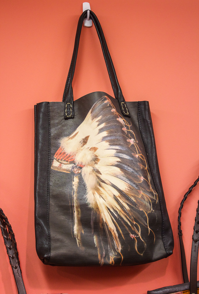 Totem Salvaged Head Dress Leather Tote