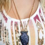 DIY Faux Arrowhead Necklace
