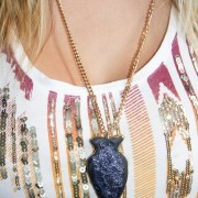 DIY Faux Arrowhead Necklace