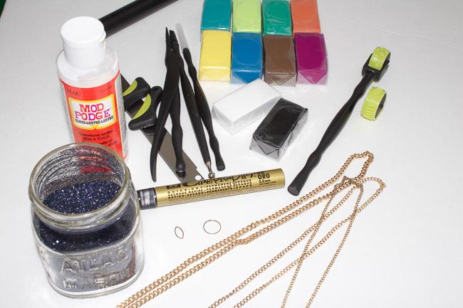 DIY Faux Arrowhead Necklace Supplies