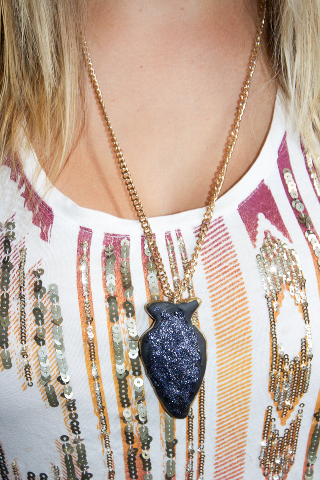 DIY: Faux Arrowhead Necklace
