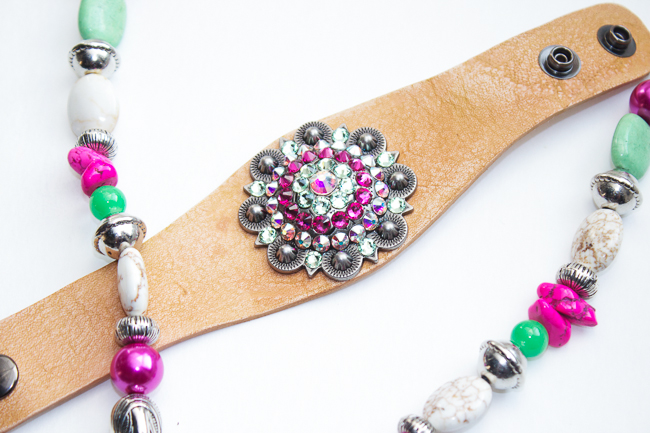 Pink and Green Concho Jewelry by Rodeo Envy
