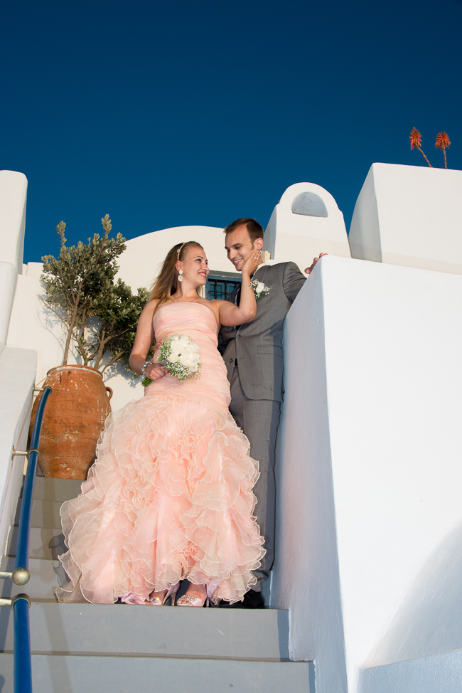 Wedding photos from Santorini, Greece