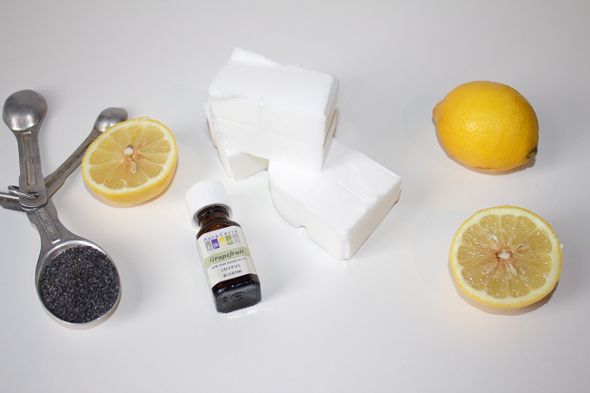 DIY Homemade Poppy Seed Citrus Soap Ingredients