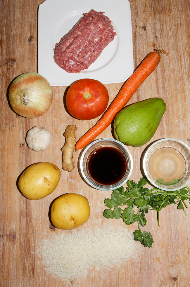 Filipino - Style Beef Picadillo Ingredients
