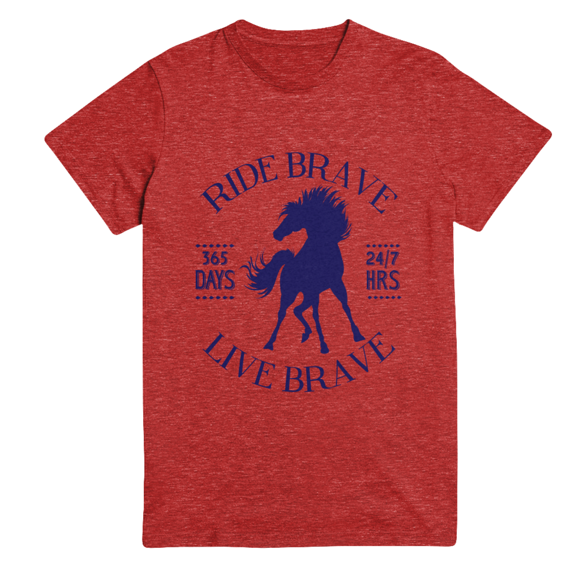 Ride Brave, Live Brave tee by One Horse Threads