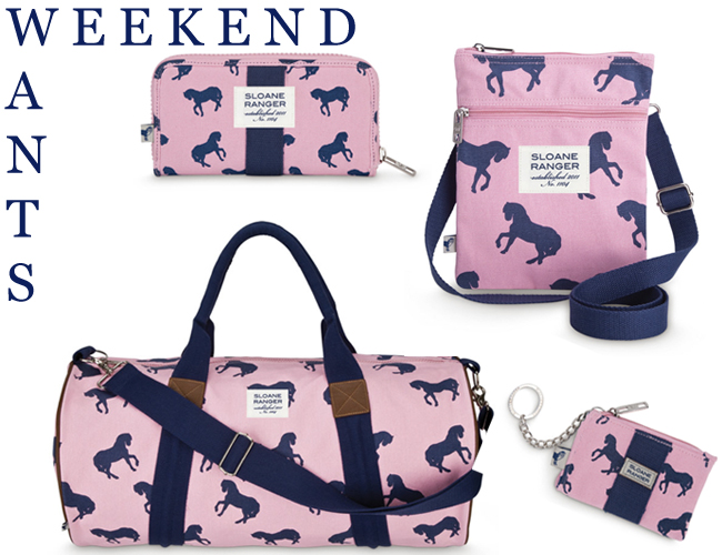 Sloane Ranger Horse Print Bag- Weekend Want on Horses & Heels