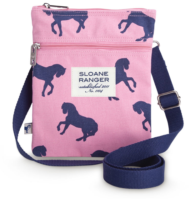 Sloane Ranger Horse Print Cross Body Bag
