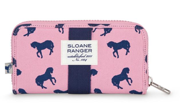 Sloane Ranger Horse Print Wallet