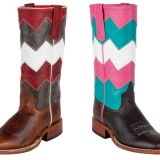 Anderson Bean Chevron Kids and Youth Cowboy Boots