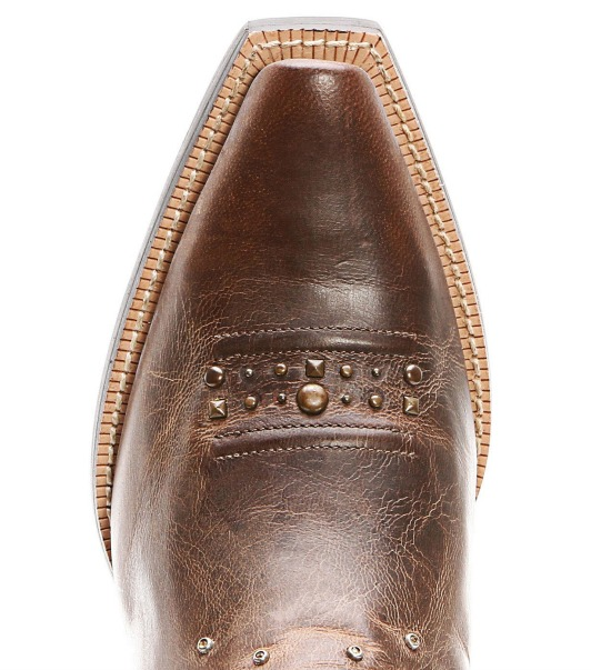 Ariat Rhinestone Cowboy Boots Toe Close Up