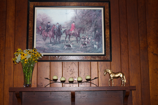 Equestrian Decor Styled Mantle