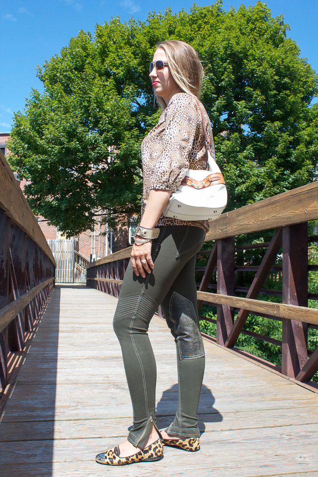 GhoDho Breeches Paired with Leopard Prints and Rebecca Ray Designs