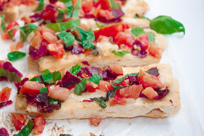 Tomato Basil Swiss Flatbread Recipe