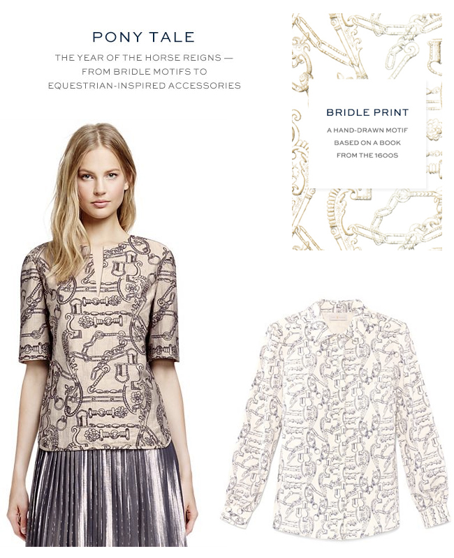 Tory Burch Bridle Print for Fall - Horses & Heels