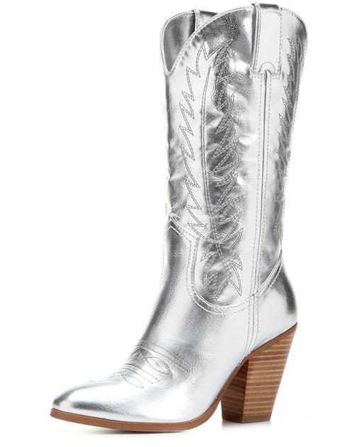 Trend Alert: Silver Cowboy Boots | Horses & Heels