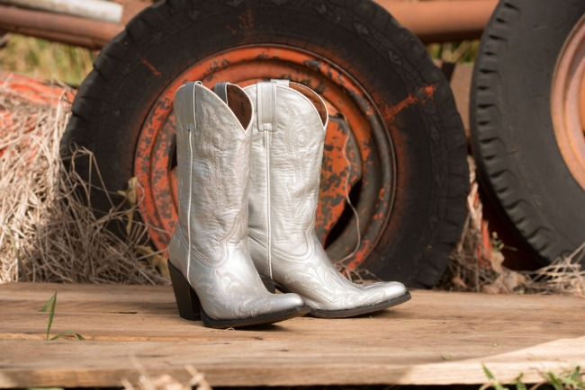 Silver Cowboy Boots from Country Outfitter