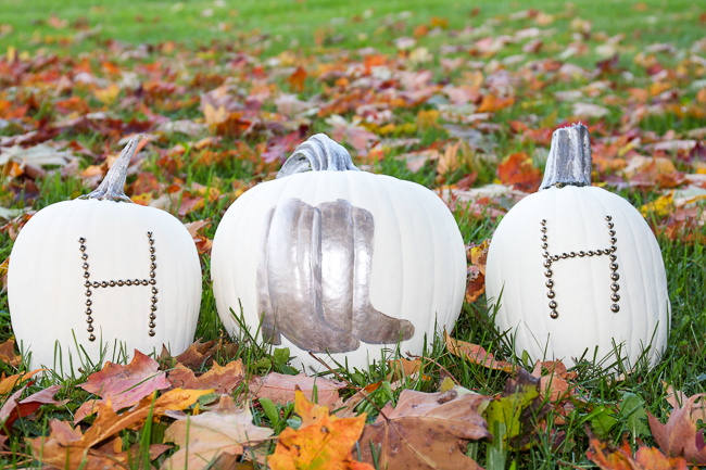 DIY: Silver and White Pumpkins