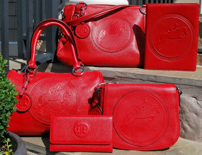Red Leather Tucker Tweed Collection