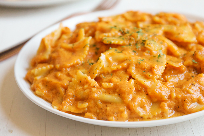 Buttery and Creamy Pumpkin Pasta is a great fall meal