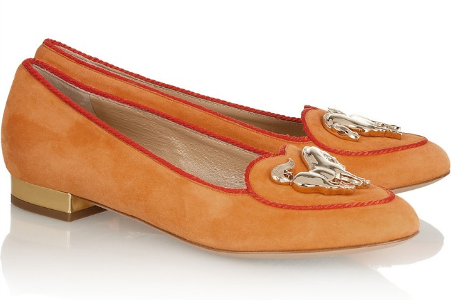 I Have a Crush: Year of the Horse Suede Flats