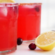 Holiday Cranberry Lemonade, can be served hot or cold