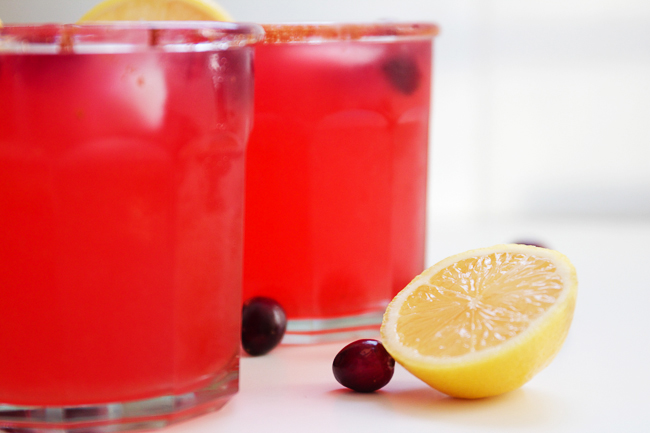 Holiday Cranberry Lemonade
