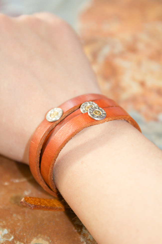 Jills Jewels Saddle Orange Leather Wrap Bracelet