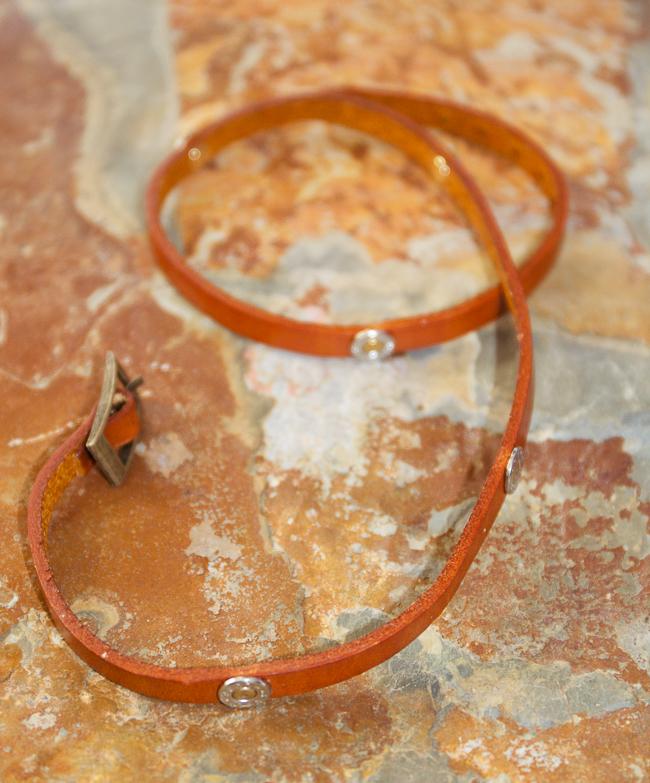 Jills Jewels Saddle Orange Wrap Bracelet with 9mm Bullets