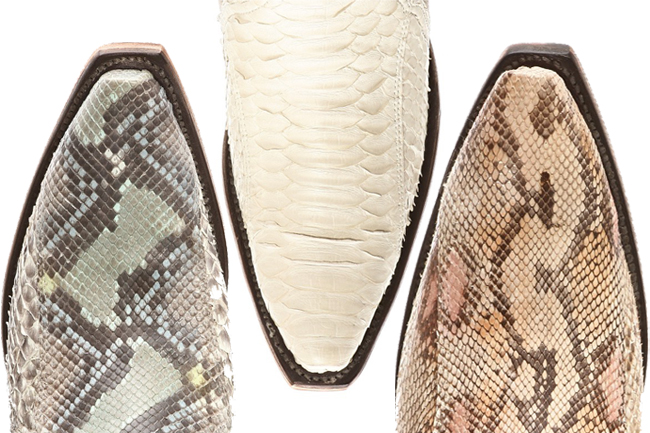 Lucchese Python Snip Toes