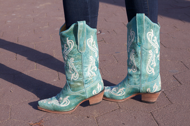 Classic Turquoise Cowboy Boots
