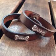Cowgirls Are Forever Dog Bone Cuffs