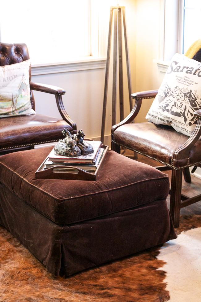 Cozy corner inside Rebecca Ray Designs' Tack Room