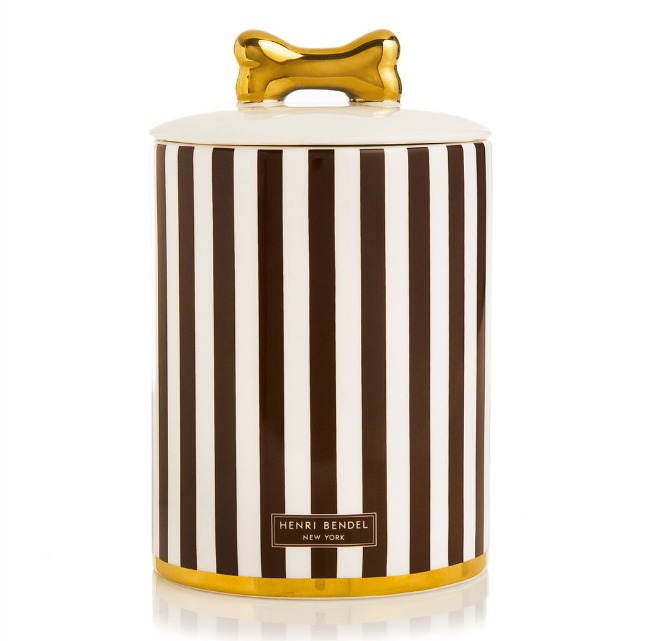 Henri Bendel Dog Treat Jar