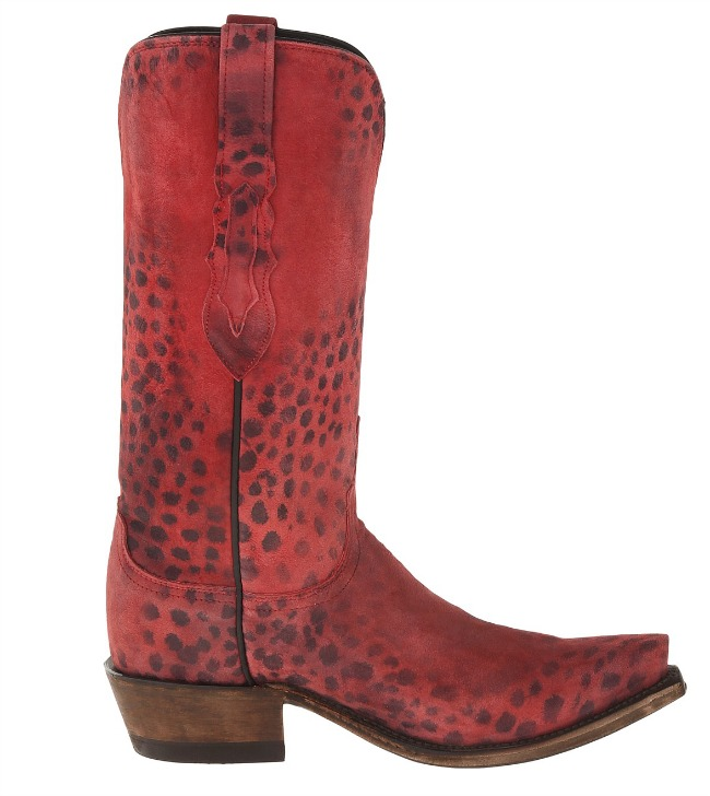 Lucchese Red Cheetah Cowboy Boots