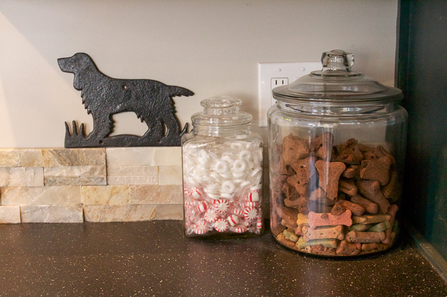 Peppermints and dog treats