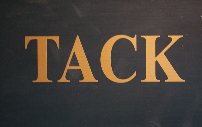 Tack Room Door Label
