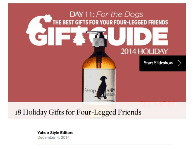 Yahoo! Style Guides - Dog Gift Guide