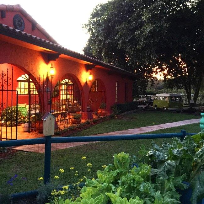 Blue Stallion Farm as the sun goes down