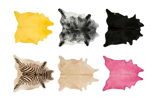 6 Colorful Cowhide Rugs
