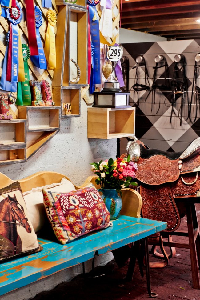 Eclectic Tack Room at Blue Stallion Farms